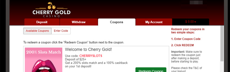 Cherry Gold Coupon Codes